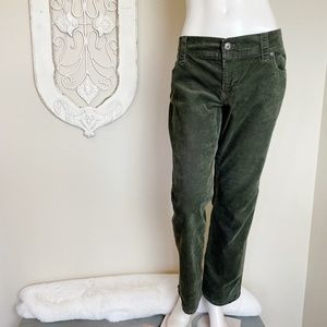Old Navy | Dark Green Corduroy Pants 14 Short